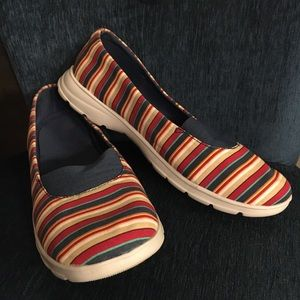 Lands' End Striped Slip Ons